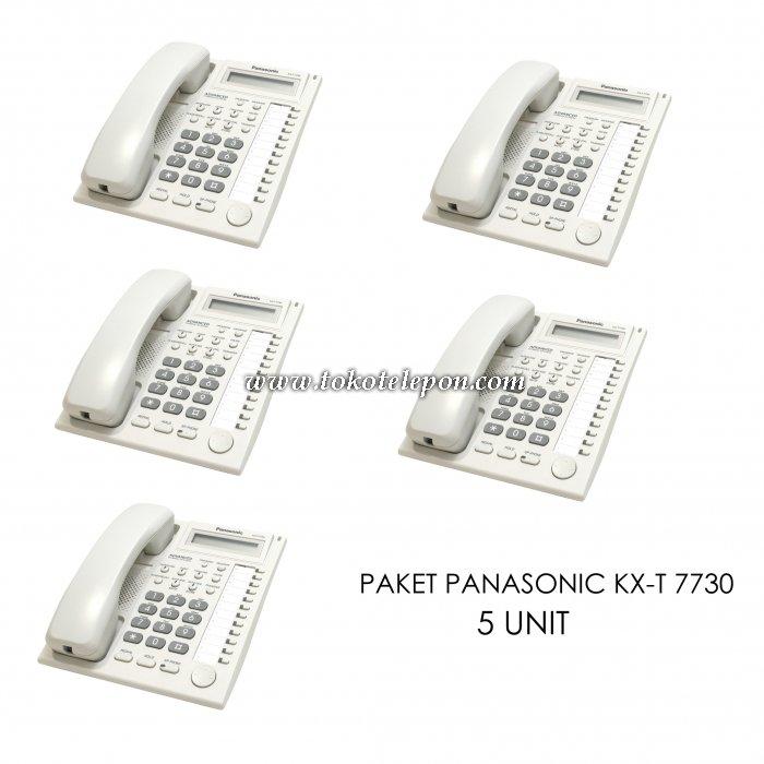 harga Paket 5 Unit Panasonic KX-T 7730 Tokotelepon.com